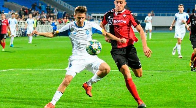 Динамо U-19 в компенсированное время упустило победу над Шкендией U-19 в Юношеской лиге УЕФА, но прошло в финал плей-офф