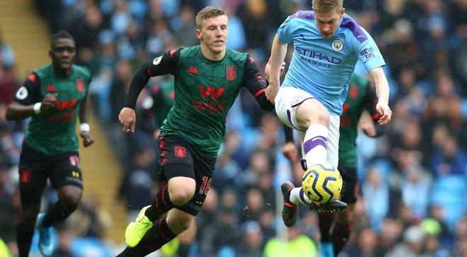 Асист конкурента Зінченка і гол в стилі кунг-фу від Гюндогана у відеоогляді матчу Манчестер Сіті – Астон Вілла – 3:0