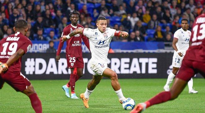 Лига 1: Лион прервал позорную серию, Лилль разгромил Бордо