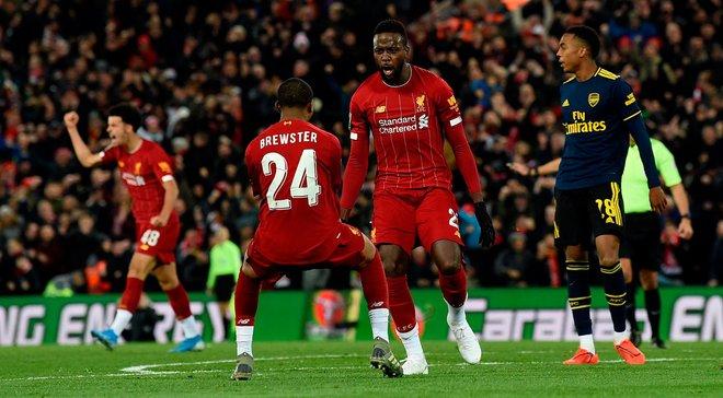 Ливерпуль победил Арсенал и вышел в 1/4 Кубка лиги: 10 голов как дань традиции, топовая молодёжь, бенефис Ориджи и Озила
