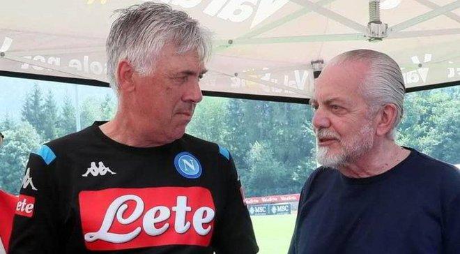 Де Лаурентіс закрив гравців Наполі на базі клубу на тиждень – Анчелотті розкритикував дії президента