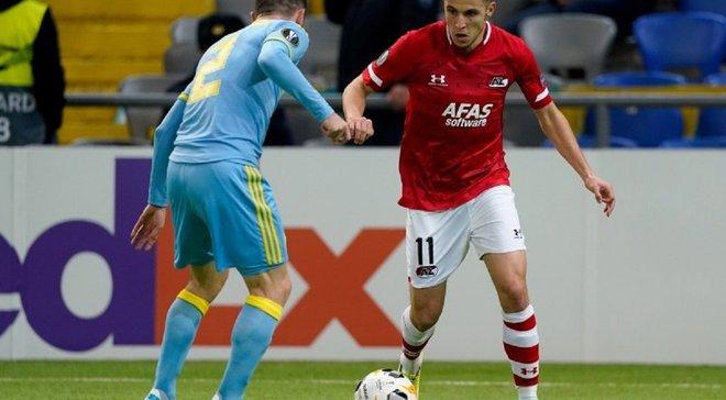 Фіаско команди Григорчука у відеоогляді матчу Астана – АЗ – 0:5