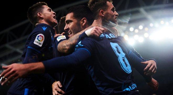 Реал Сосьедад сенсационно не сумел обыграть аутсайдера, но стал единоличным лидером Ла Лиги