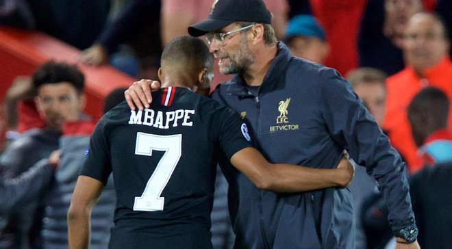 Клопп оценил вероятность перехода Мбаппе в Ливерпуль