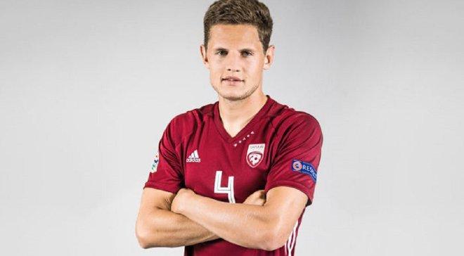 Защитник Александрии Дубра вызван в сборную Латвии