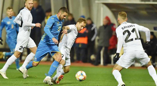 Рятівний штрафний від Безуса у відеоогляді матчу Україна – Естонія – 1:0