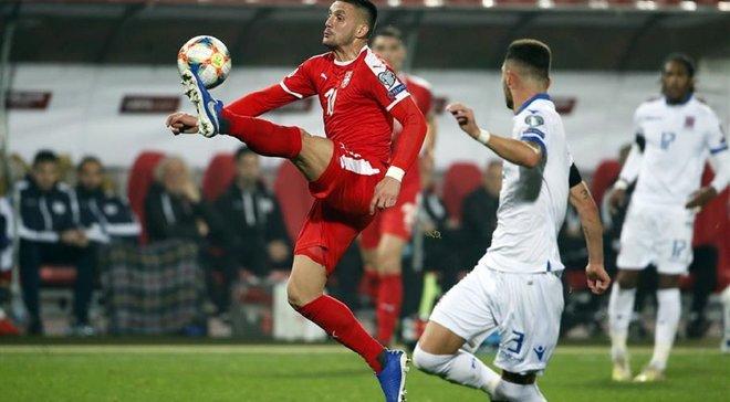 Гол форварда Динамо в видеообзоре матча Сербия – Люксембург – 3:2