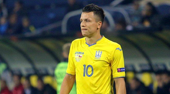 Коноплянка близок к восстановлению и имеет шанс выйти в матче против Сербии