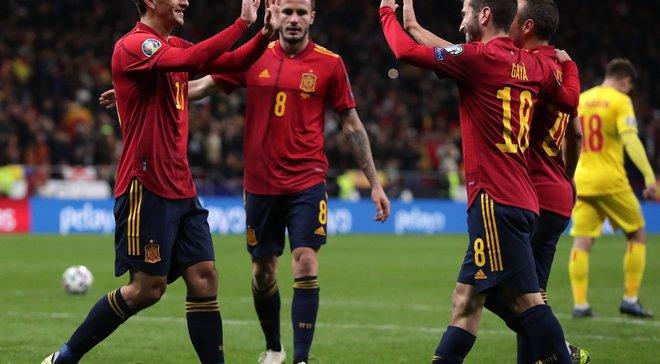 Испания – Румыния – 5:0 – видео голов и обзор матча