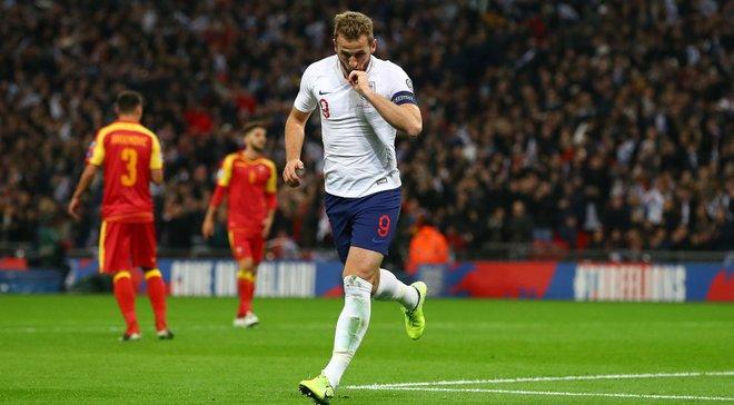 Англія – Чорногорія: Кейн оформив хет-трик та зрівнявся із найкращим бомбардиром відбору до Євро-2020