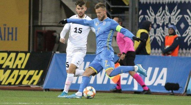 Ярмоленко – о победе над Эстонией: Вы видели, куда я ударил? Мяч за стадионом оказался
