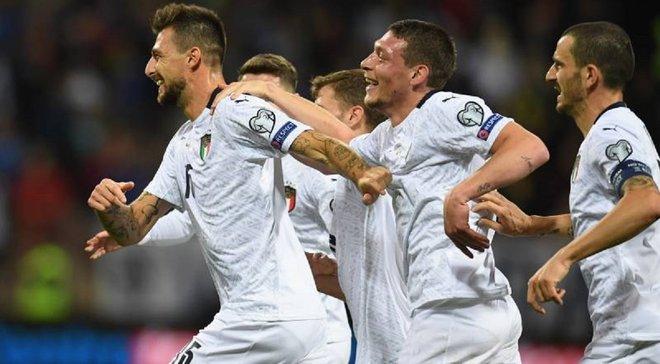"""Рекордна перемога """"скуадри адзурри"""" у відеоогляді матчу Боснія і Герцеговина – Італія – 0:3"""