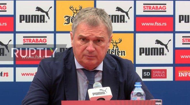 Сербія – Україна: передматчева прес-конференція Любіші Тумбаковіча