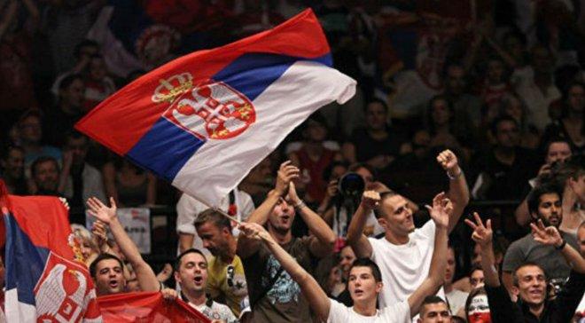 Сербія – Україна: фанати господарів вигукували гасла на підтримку Росії
