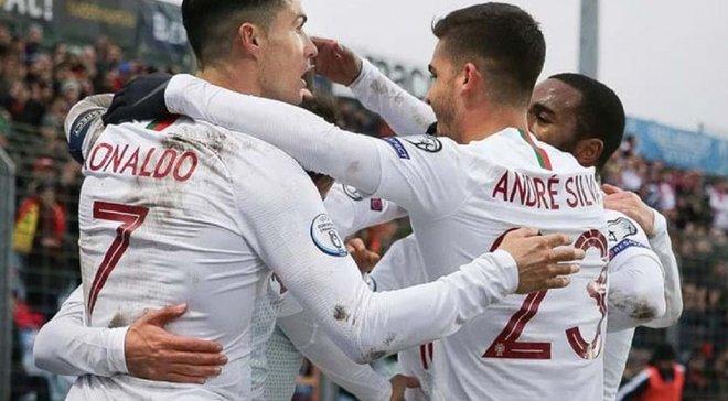 Роналду и компания обошлись без помощи сборной Украины – видеообзор матча Люксембург – Португалия – 0:2