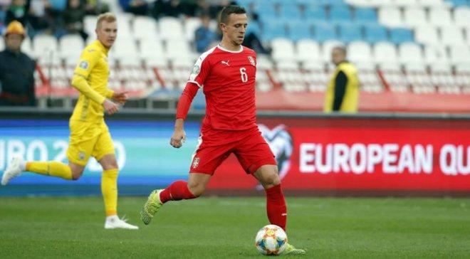 Хавбек збірної Сербії Максімовіч назвав гру проти України найкращою у відборі до Євро-2020