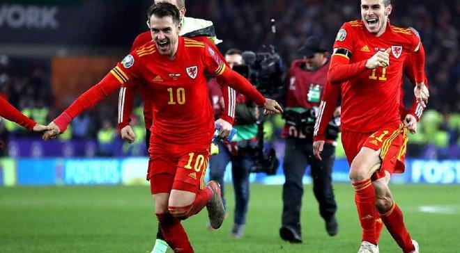 Выход команды Гиггза на Евро-2020 в видеообзоре матча Уэльс – Венгрия – 2:0