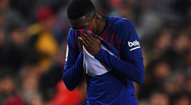 Дембеле вылетел до конца года и не поможет Барселоне в матче против Реала