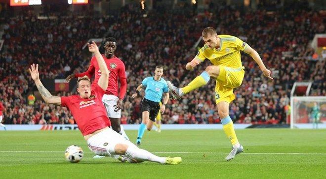 Ліга Європи: Астана Григорчука сенсаційно обіграла Манчестер Юнайтед, Краснодар мінімально здолав Базель