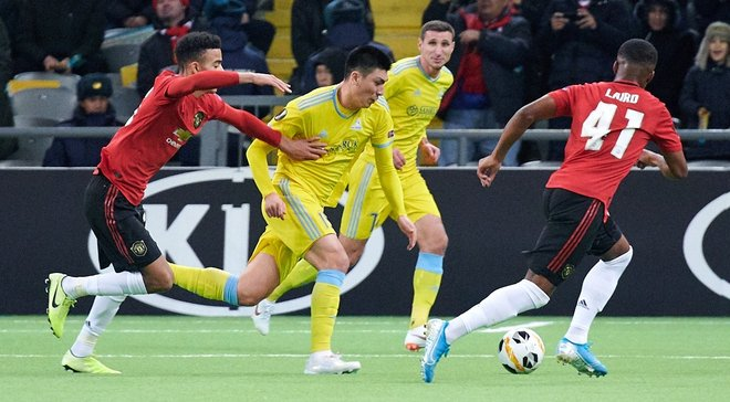 Сенсационная победа команды Григорчука в видеообзоре матча Астана – Манчестер Юнайтед – 2:1