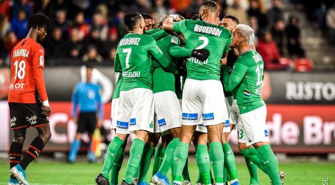 Лига 1: Ренн вырвал победу над Сент-Этьеном, Нант продолжил ужасную серию Тулузы