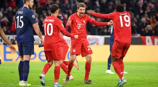 Бавария – Тоттенхэм – 3:1 – видео голов и обзор матча