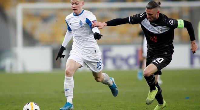 Динамо делегировало 6-х игроков в символическую сборную группы в Лиге Европы, – Whoscored
