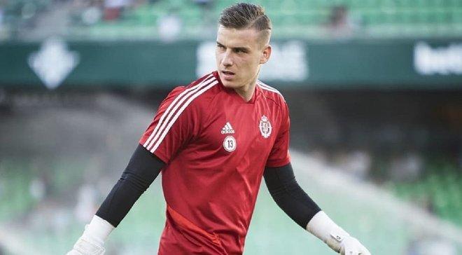 Лунин дебютирует за Вальядолид в матче Кубка Испании против Толосы – украинец попал в стартовый состав