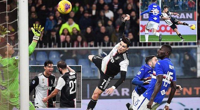 """Роналду забив фантастичний гол у Серії А – вражаючі цифри """"польоту в космос"""""""