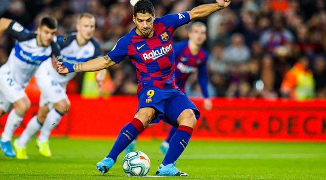 Ювілейний гол Мессі та результативні подвиги Суареса у відеоогляді матчу Барселона – Алавес – 4:1