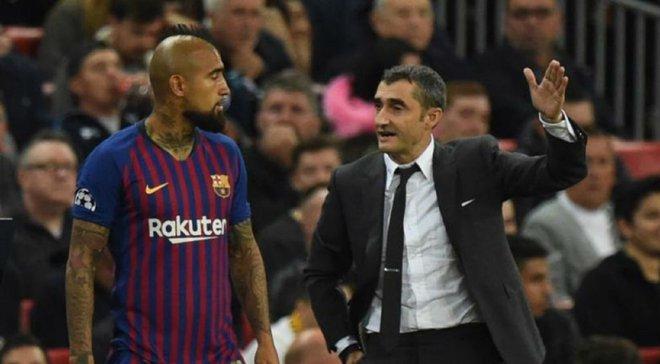 Вальверде не хочет отпускать Видаля из Барселоны
