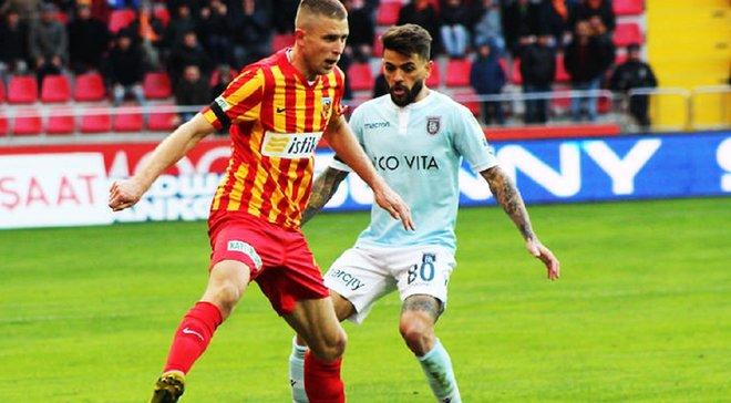 Кравец снова забил за Кайсериспор – команда украинца разгромно проиграла одному из лидеров чемпионата Турции