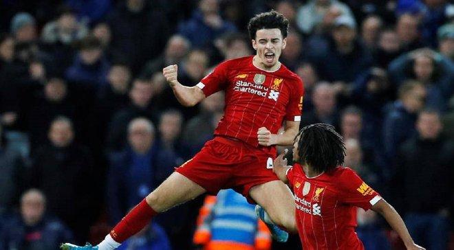 """Неймовірний гол юного вихованця """"червоних"""" у відеоогляді матчу Ліверпуль – Евертон – 1:0"""