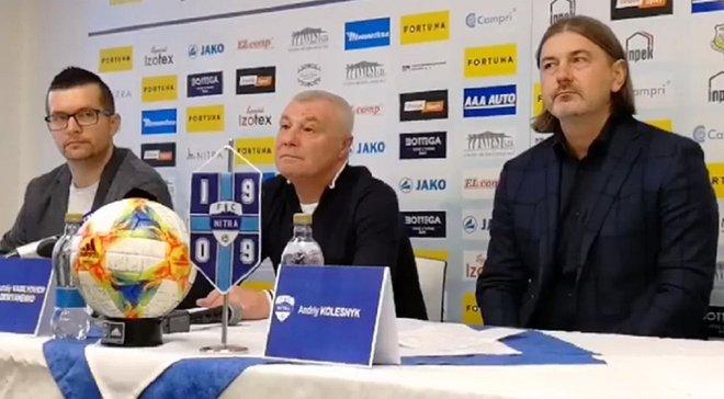 Демьяненко выделил свои главные задачи на посту тренера Нитры
