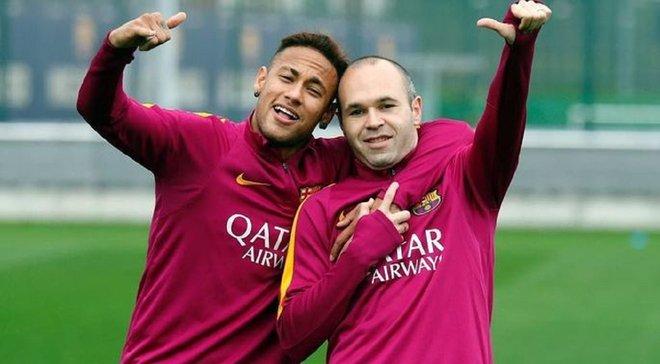 Иньеста: Неймар стал бы прекрасным трансфером для Барселоны