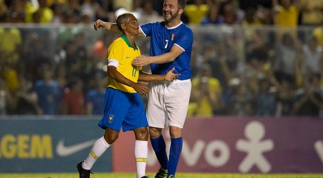 Легенды Бразилии и Италии переиграли исторический финал ЧМ-1994 – апеннинцы отомстили за промах Баджо