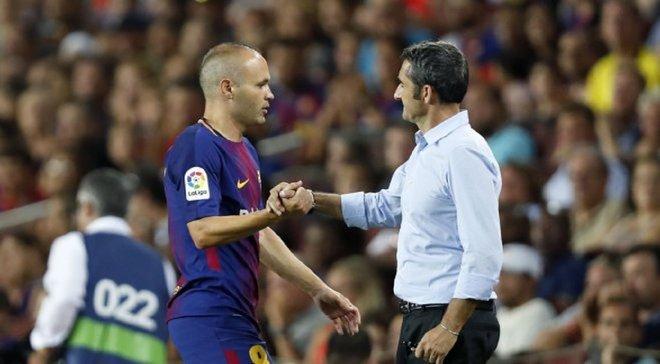 Иньеста раскритиковал руководство Барселоны за неуважение к Вальверде