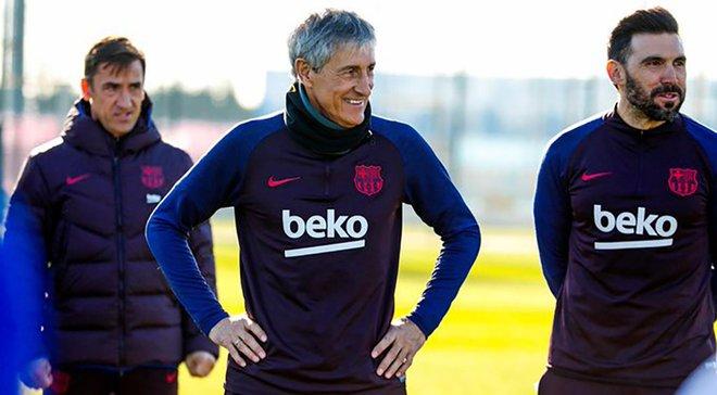 Барселона провела первую тренировку под руководством Сетьена