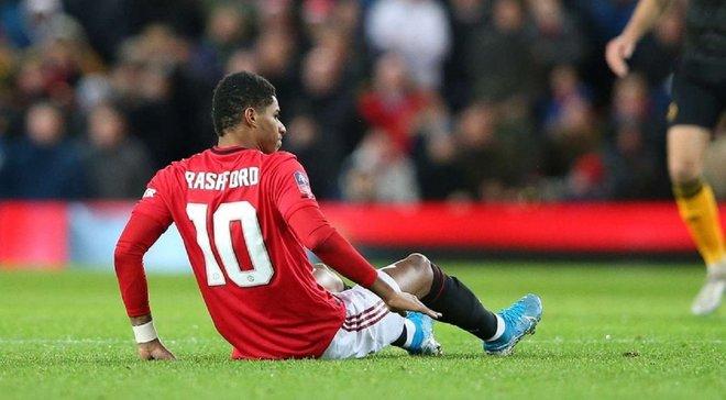 Рашфорд получил повреждение в матче Кубка Англии и рискует пропустить битву против Ливерпуля