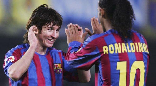 Роналдинью рассказал о своих отношениях с Месси в Барселоне