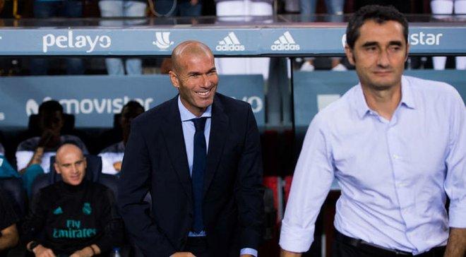 Зидан сожалеет, что Барселона уволила Вальверде
