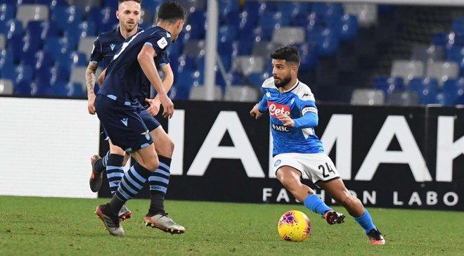 Наполи одолел Лацио и стал первым полуфиналистом Кубка Италии