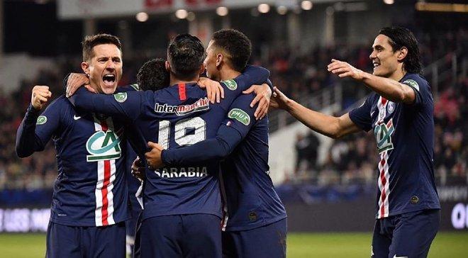 Кубок Франції: ПСЖ з тенісним рахунком познущався над Діжоном, Марсель поступився Ліону