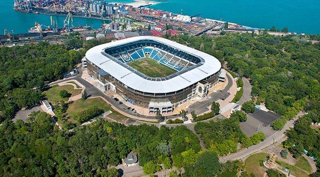 Шторм пошкодив фасад стадіону Чорноморець