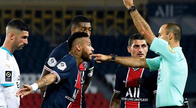 Неймар дізнався своє покарання за бійку у матчі проти Марселя